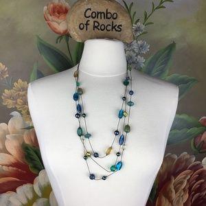 Lia Sophia Multi Strand Glass Beaded Necklace